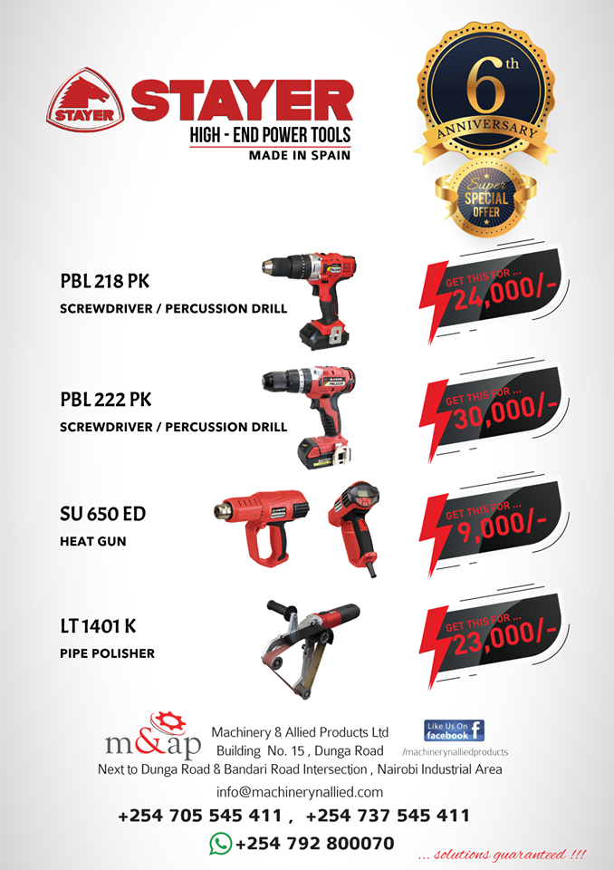 Stayer High-end Power tools April Offer
